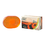 WISH Natural Skin Care Papaya Transparent Soap [BC-009] - Sabun Mandi